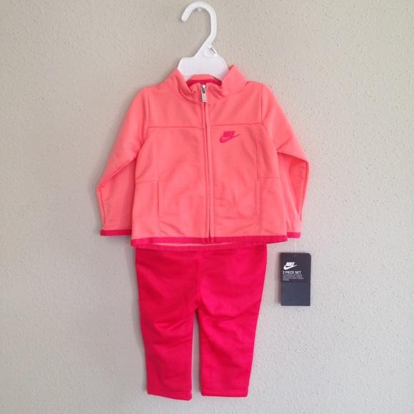 5fe1b9342 Nike Matching Sets | Nwt Tracksuit Baby Girls Pink Set | Poshmark